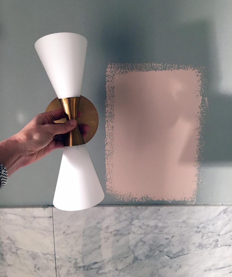 Renovering: lampor till spegeln   petra tungården   metro mode