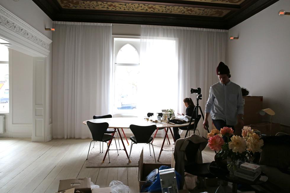 Nya gardiner i vardagsrummet