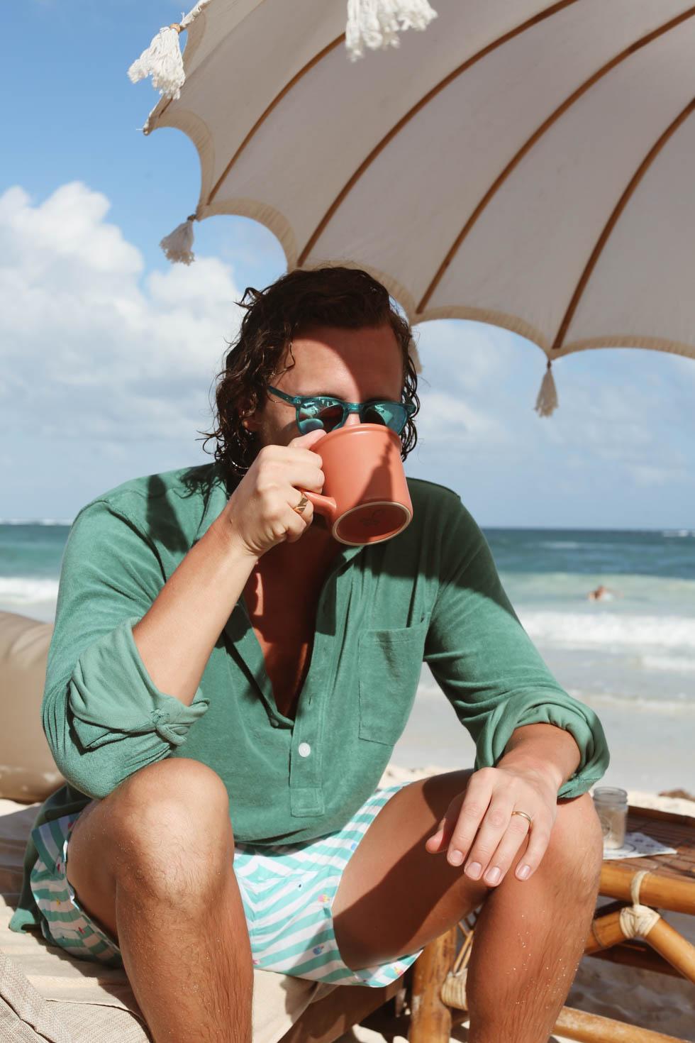 Promenad på Tulum Beach, Lunch på The Real Coconut och Drinkar i Solnedgången på COCO.